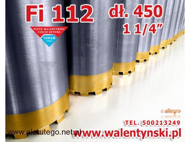 Wiertło 112 koronowe diamentowe do żelbetonu betonu kamienia, regeneracja wiertła, otwornica